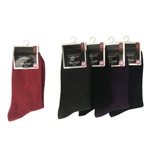 LADIES 1PR CASUAL WOOL ASST. COLOURS SOLID