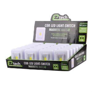 COB LED Mini Light Switch w / battery