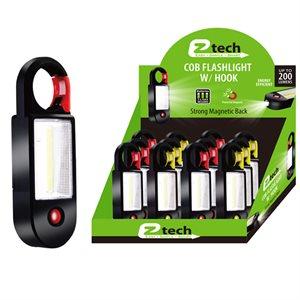 COB LED Flashlight w / Clip