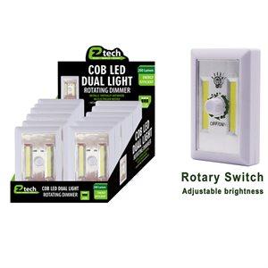 COB LED Switch Light Rotating Dimmer