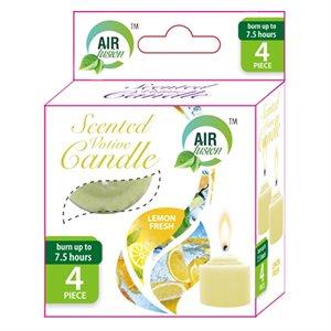 Air Fusion Votive Candle 4PK Fresh Lemon